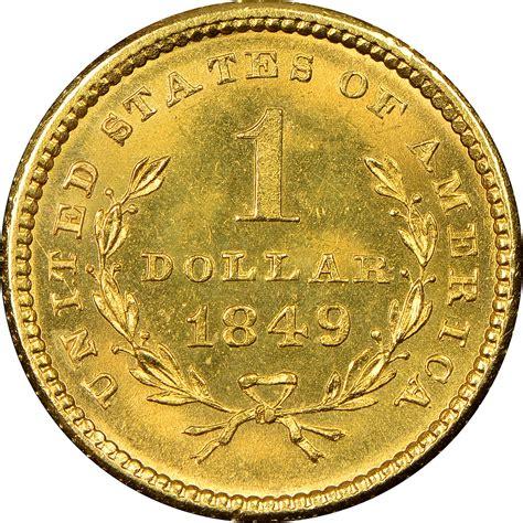 small heat l 1849 small no l g 1 ms gold dollars ngc