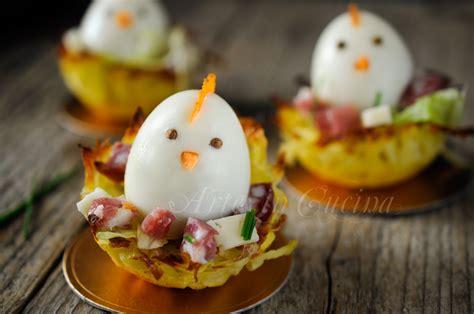 come cucinare l uovo ai bambini cestini di patate per pasqua con uova ricetta sfiziosa
