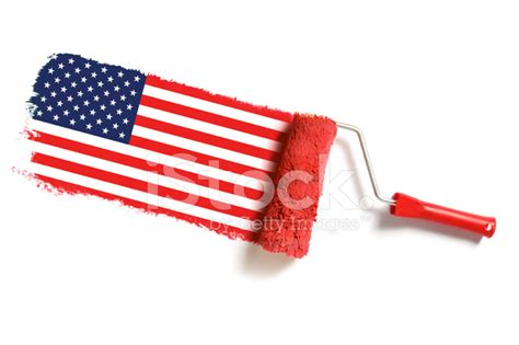 roller brush with usa flag stock photos freeimages
