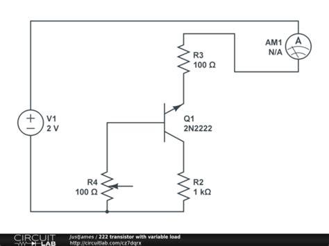 transistor variable 222 transistor with variable load circuitlab