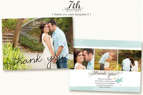 photo wedding thank you cards templates the best thank you cards template designs