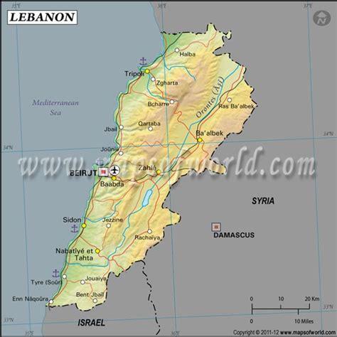 Find Lebanon Lebanon Latitude And Longitude Map