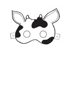 cow mask template mask templates search classroom ideas