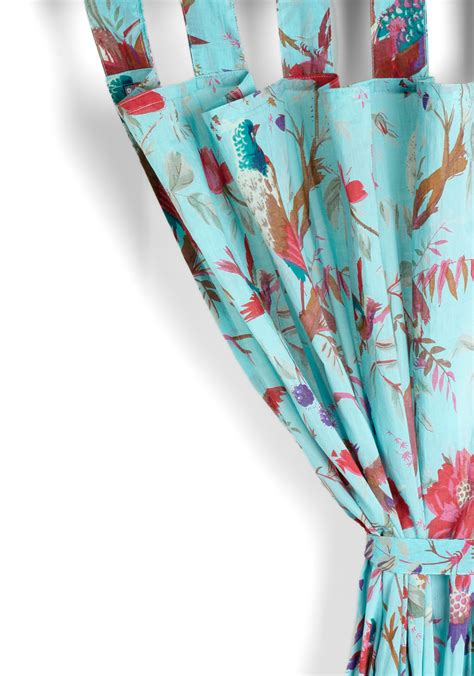 karma living curtains flora and fauna and fabulous curtain in turquoise mod