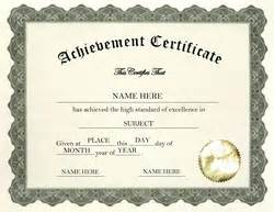 Certificate Of Achievement Template Free Free Templates For Kindergarten And Pre School Certificate