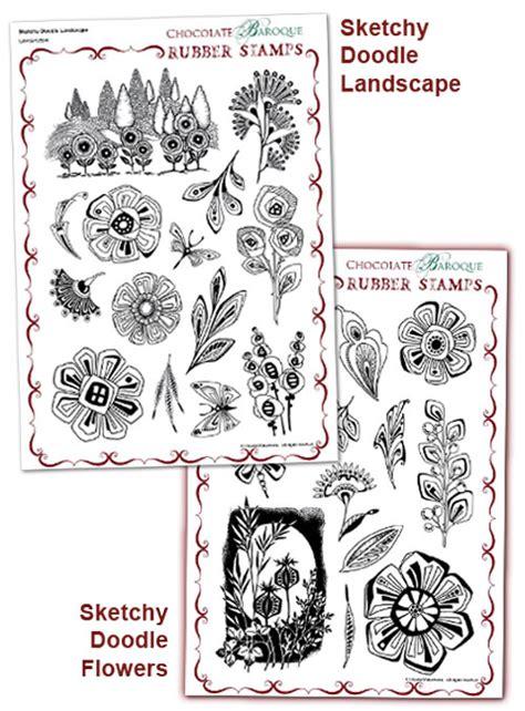 doodle buy sketchy doodle landscape flowers multi buy a4