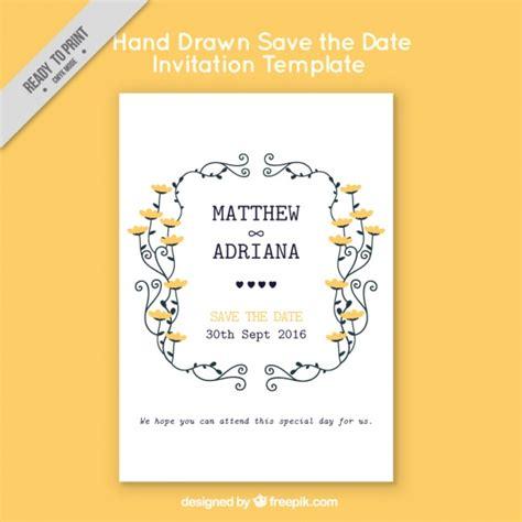 Wedding Invitation Yellow Background by Wedding Invitation On Yellow Background Vector Free