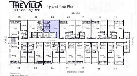 eaton center floor plan villa on eaton square honolulu hawaii condo by hicondos com