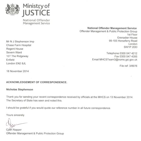 Official Letter Ministry Correspondence 1 The Official Illuminati