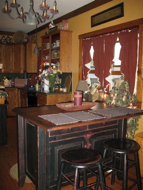 primitive kitchen island colonial kitchen decor studio design