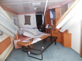 costa concordia cabine inside costa concordia captain s cabin where he held