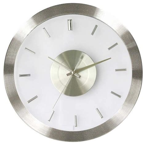 modern wall clocks stainless steel wall clock w clear face modern wall