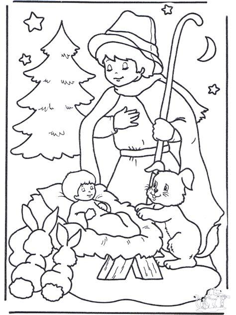 kind  der krippe ausmalbilder weihnachten