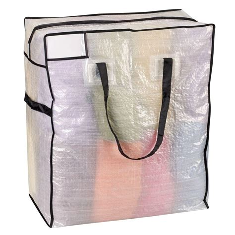 house essentials household essentials 22 in x 26 in medium tote clear