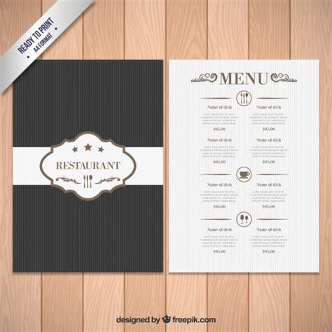 elegant menu template vector free download