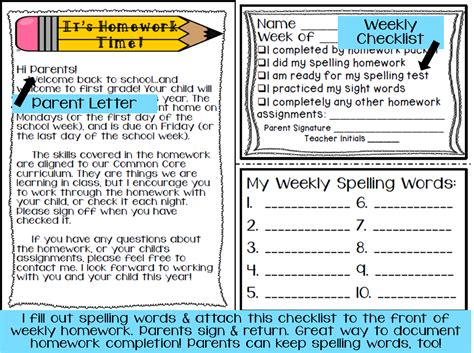 Parent Letter Spelling Grade Fairytales Is It Already That Time And Some Homework For Ya