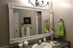 Bathroom Mirror Frame Ideas by Bathroom Mirror Frames Diy Moms Stuff Pinterest