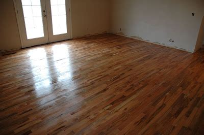 How To Refinish A Hardwood Floor by Remodelaholic Remodeled Kitchen With Refinished Hardwood