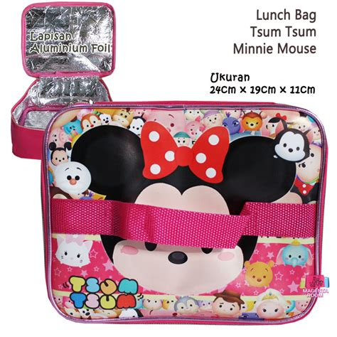 Tas Travel Kotak Tsum by Lunch Bag Tsum Tsum Minnie Mouse 2 Tas Tempat Makan