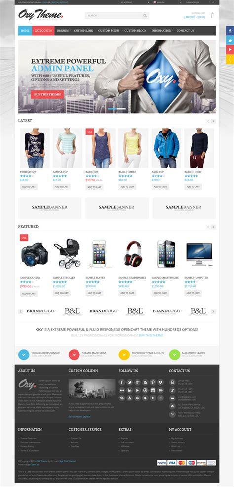 themeforest online store oxy opencart shopping theme