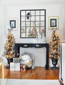 Brown And White Home Decor by Christmas Decorating Ideas Black Brown Amp White Living Room