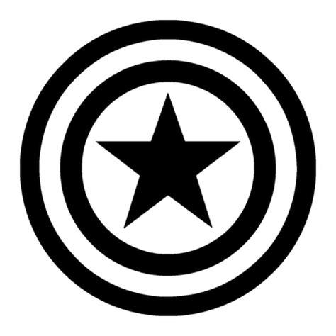 Capt America Logo 1 pochoir captain america logo
