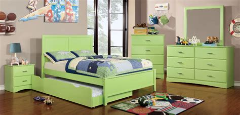 prismo lime green wood bedroom set las vegas furniture