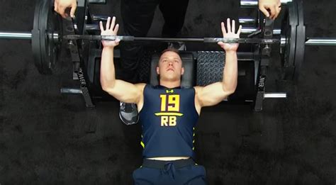 most bench press nfl combine christian mccaffrey had a horrible showing at the nfl