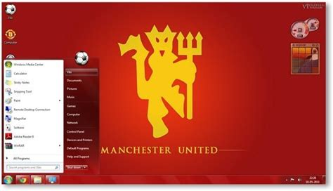 manchester united themes for windows 10 manchester united fc windows 7 theme