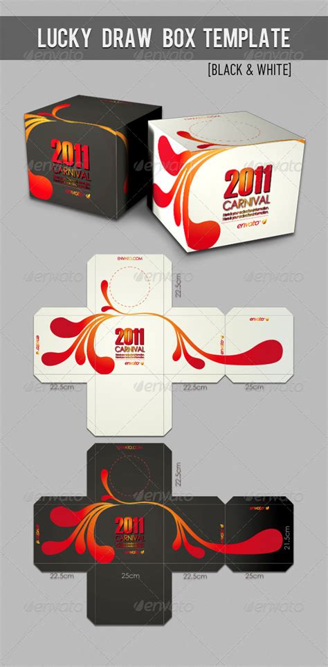 Lucky Draw Box Template By Katzeline Graphicriver Lucky Draw Announcement Template