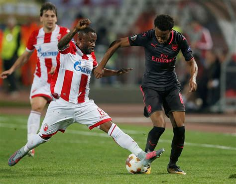 arsenal player ratings against red star belgrade sport joe willock arsenal player ratings against red star