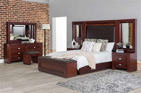 bedroom suites headboard 2 pedestals rochester furniture