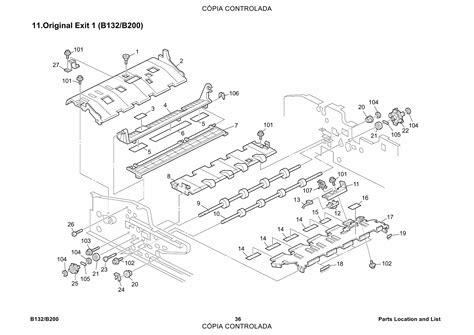 Ricoh Aficio 3260c 5560 B132 B181 B200 Parts Catalog