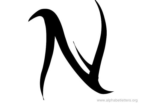 letter n tattoo designs letter n designs