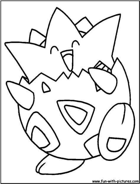 free coloring pages of pokemon togepi