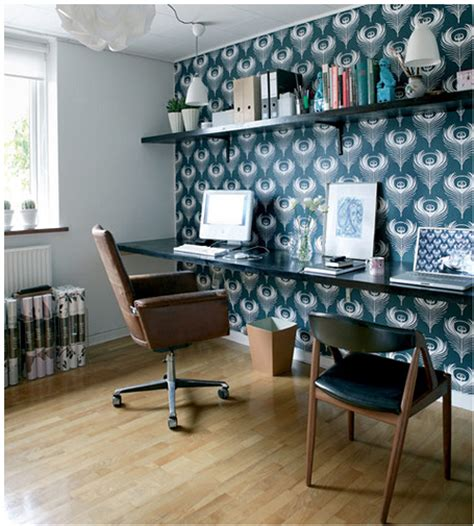 home office wallpaper wallpaper accent wall bossy color annie elliott interior