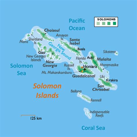 solomon islands map large physical map of solomon islands with all cities and airports vidiani maps of all