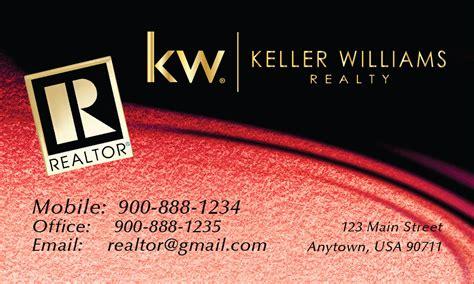 Red Keller Williams Business Card Design 103522 Keller Williams Business Card Templates