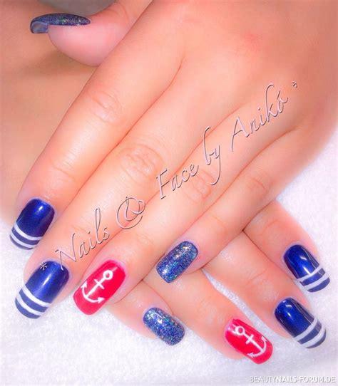 maritim style nails ahoi maritim style geln 228 gel