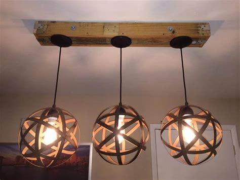 Make Light Fixture Diy Pallet And Jar Light Fixture 101 Pallets