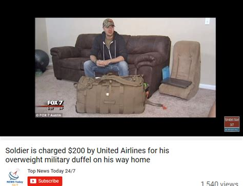 united military baggage united airlines charges soldiers 200 for overweight