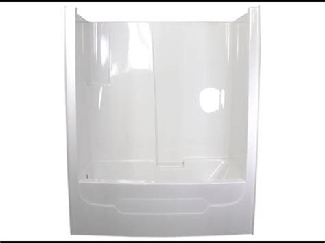 one piece bathtub with surround one piece tub surround youtube