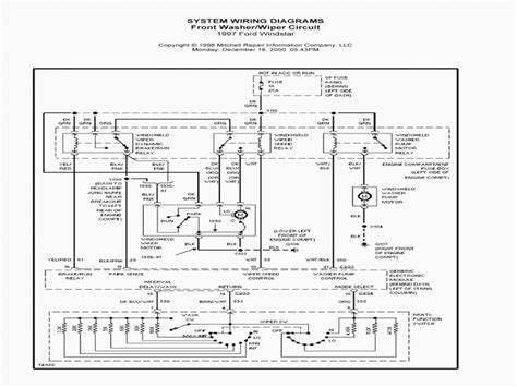2002 ford windstar starter wiring diagram diagrams