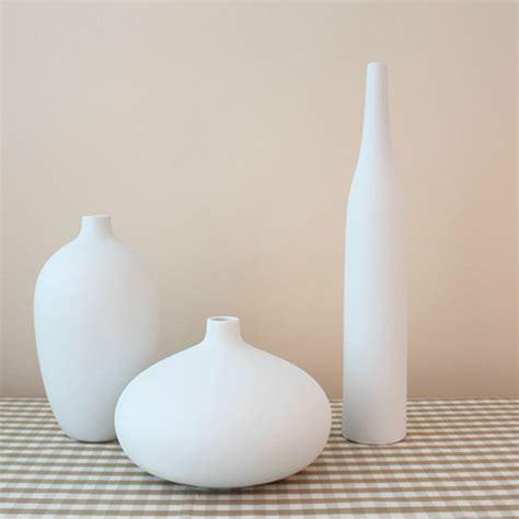 White Vase Decor by Porcelain Vase White Ceramic 3 Types Tabletop
