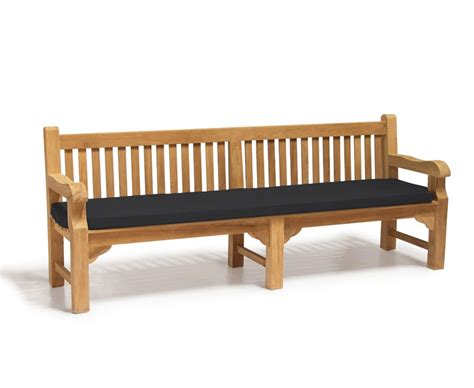 cushions for garden bench outdoor large bench cushion 2 4m lindsey teak