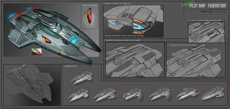 fed pilot ship approved design vs ingame star trek online