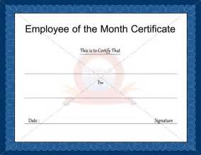 Employee Of The Month Certificate Templates Doc 545400 Certificate Creator Certificate Maker