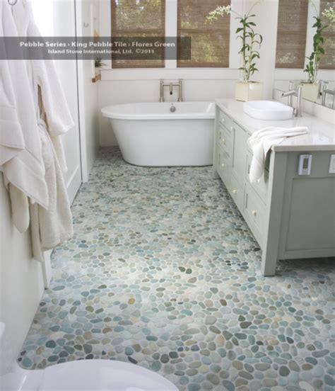 Riverstone Tile Bathroom Sea Green Pebble Tile River Stones Pebble Tiles And Bauhaus