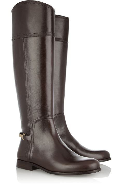 riding shoes tory burch jess leather riding boots in brown coconut lyst