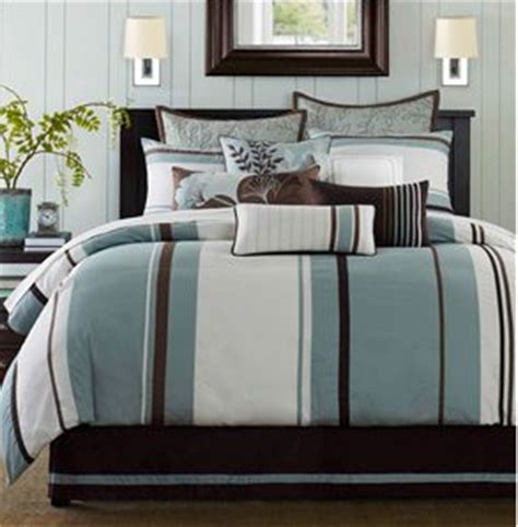 Brown And White Bedding Sets Bedspreads Comforters On Blue And Brown Striped